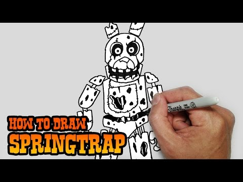 How to Draw Springtrap- Five Nights at Freddy's 3- Video Lesson