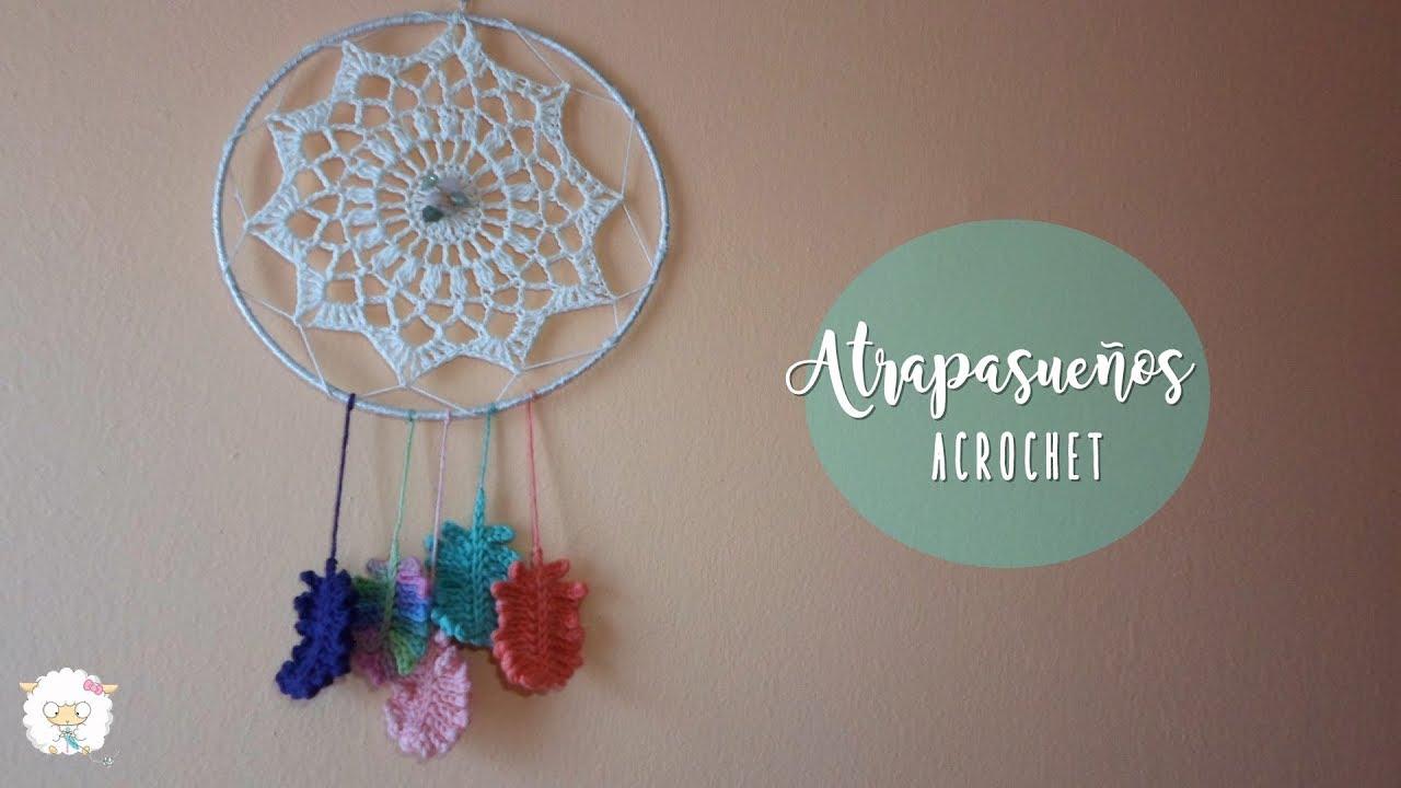 Atrapasueños a crochet   crochet dreamcatcher - YouTube