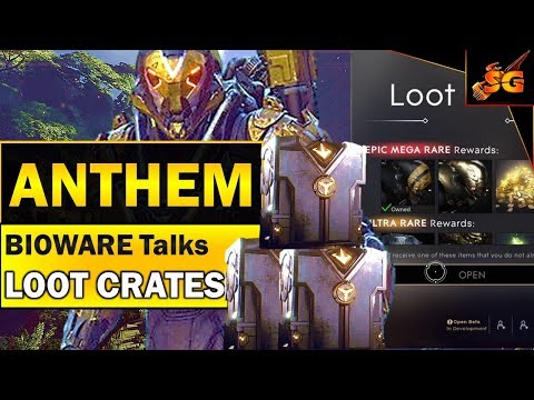 ANTHEM NEWS UPDATE!! BIOWARE CREATIVE DIRECTOR Talks About LOOT CRATES & MICROTRANSACTIONS IN ANTHEM