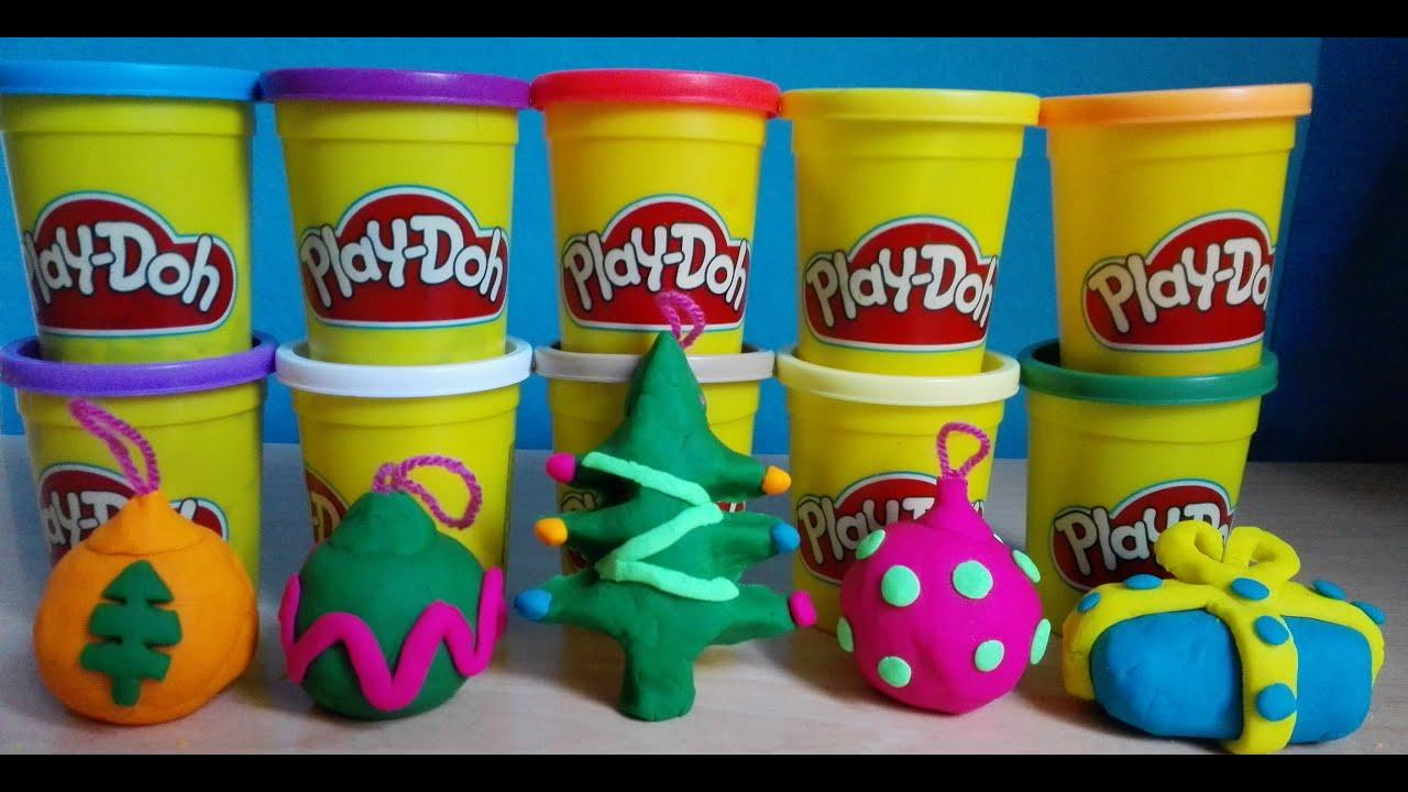 Play doh christmas ornaments surprise zomlings Adornos de navidad