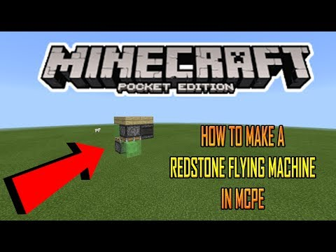 How to make a plane in minecraft pe that can fly