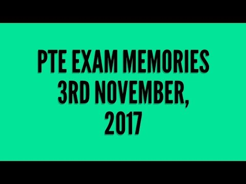 PTE Exam Memories: 3rd November 2017: Describe Images with Timer