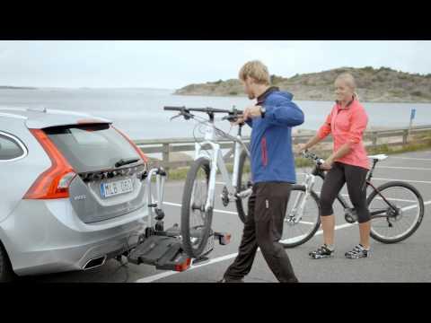 Fietsdrager Volvo, opklapbaar, 2 fietsen.