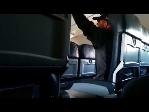 Guy freaks out during takeoff