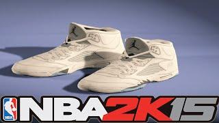 #NBA2K15 Next Gen Shoes - Air Jordan 5 White / Metallic Silver