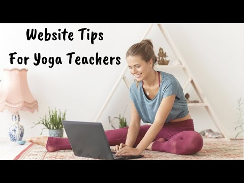 Website Tips For Yoga Teachers
