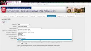Ole miss admissions essay