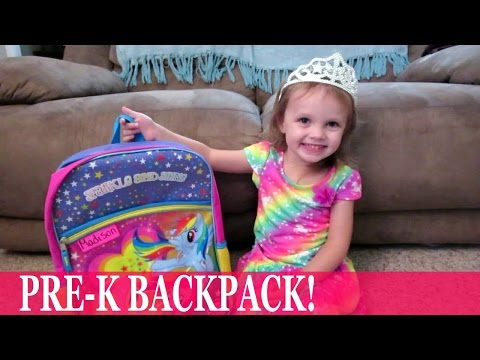What's In Madison's Backpack!  Vlog 9.13.15  Mommy Etc
