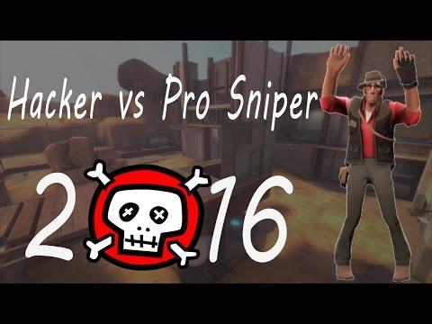TF2 Hacker vs Pro Sniper trolled 2016