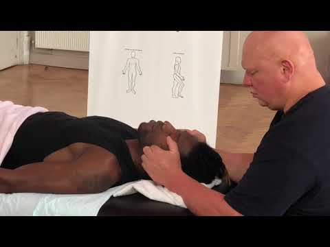 Face Massage - Brandon Working On Alpha In London Advanced Raynor Massage Course