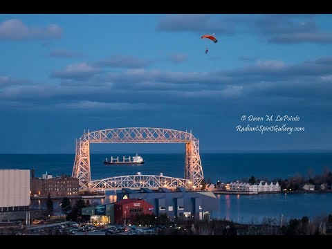 Santa Claus Skydiving Over Duluth
