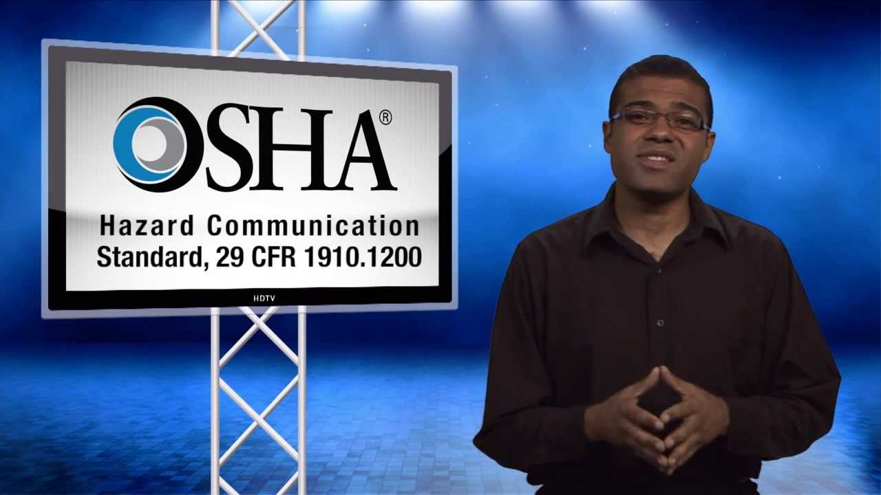 OSHA Revised Hazard Communication Standard Training - View by December 1,  2013