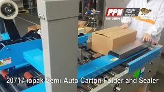 IOPAK Semi-Auto Carton Folder and Sealer SD-CFS-SA [20717]