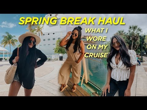 What I Wore On My Cruise | College Spring Break Try-On Haul