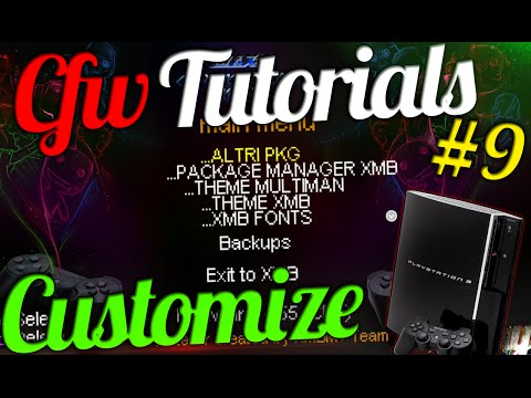 CFW Tutorials #9 | Personnalize/Customize All Your PS3 Easily ! (Font,Waves,PSN Logo,Coldboot,PKG)