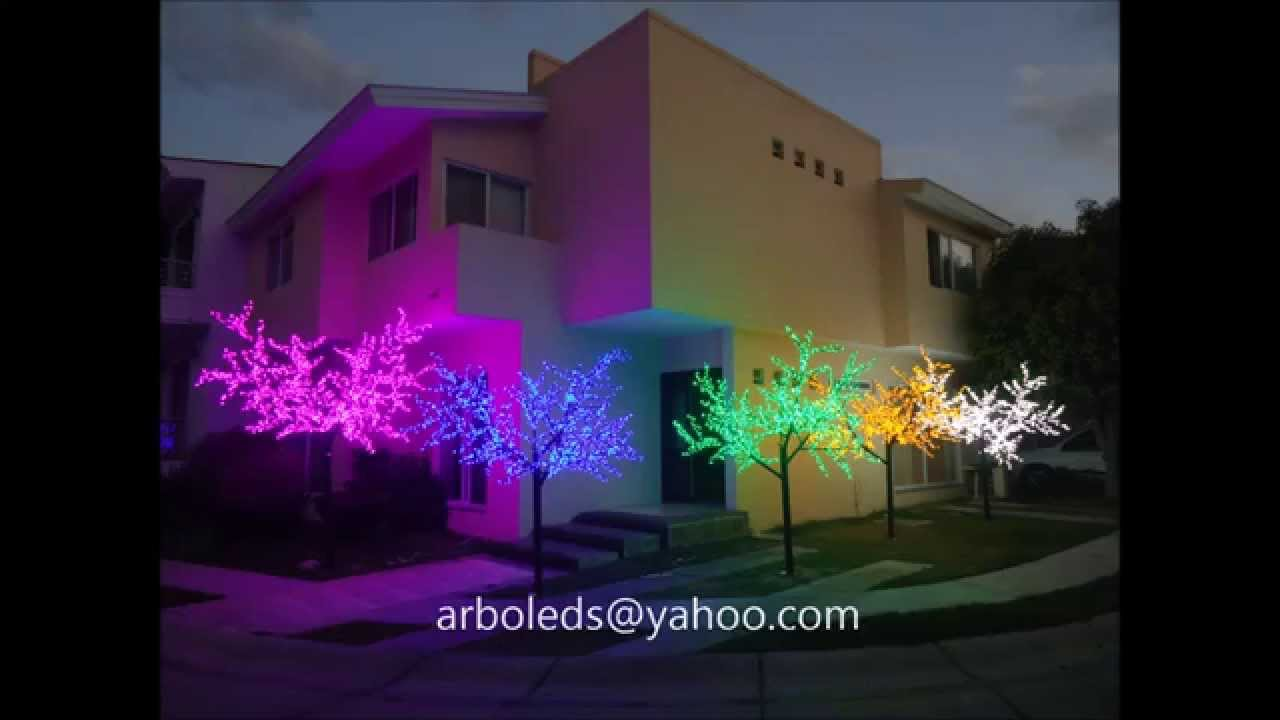 Arboles con luces leds para decoraci n eventos fiestas for Decoracion de exteriores