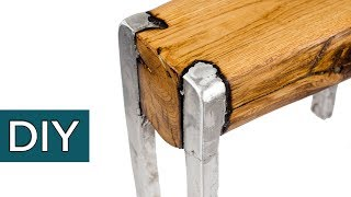 Сплав  ДЕРЕВА и АЛЮМИНИЯ. Секретная технология. Как сделать мебель своими руками. #стройхак(, 2017-08-21T14:55:11.000Z)