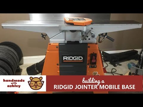 Make A Lift Rolling Stand For Ridgid Jointer Doovi