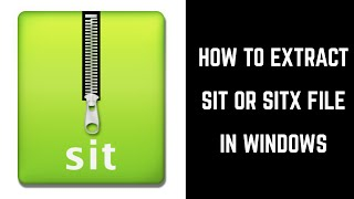 How to Open / Extract sit File - Beginner Tutorial