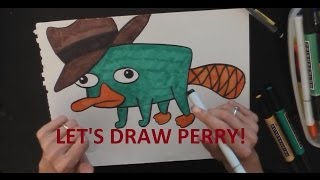 How to Draw Perry from Phineas and Ferb in Pencil - Artist Rage