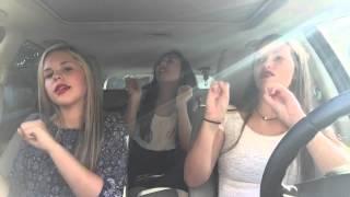 three girls singing in a car remake lolol