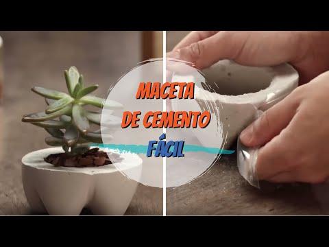 Maceta de cemento hecha en casa  YouTube