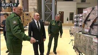 RAW: Putin checks out weaponry seized from Syrian militants thumbnail