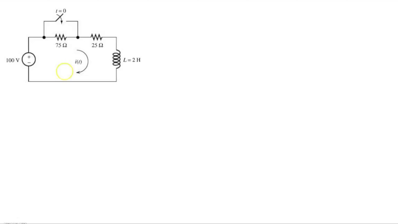 example 1st order rl transient analysis youtube