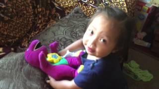 Change Barney diaper
