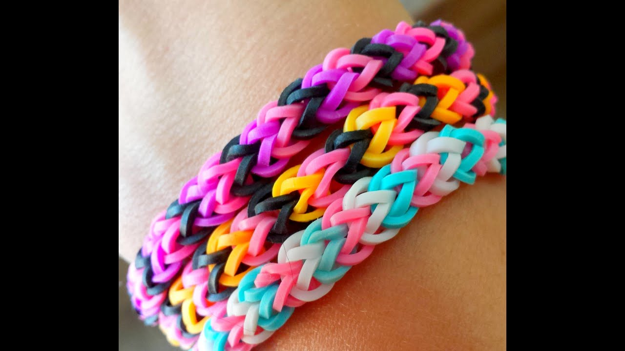 bracelet lastique chevron m thode simple et rapide en 15 minutes rainbow loom fran ais. Black Bedroom Furniture Sets. Home Design Ideas
