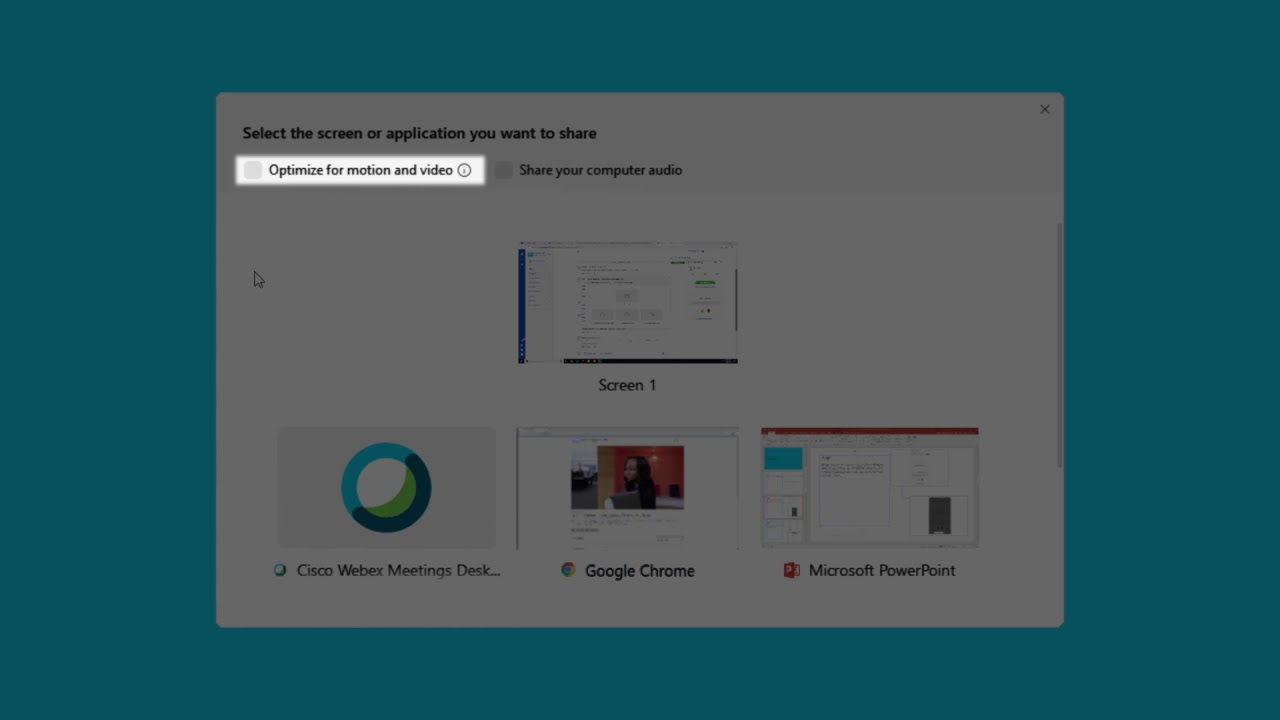 How To Share Content Wirelessly from Webex Meetings