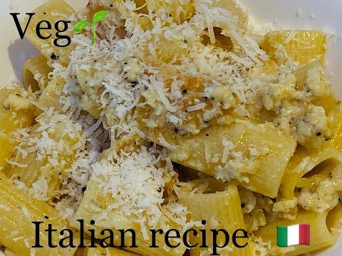 Vegetarian Carbonara Alessia's Recipe | Italian Carbonara without Meat | 100% Italian home recipes |