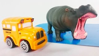 Автобус Бас и гоночный автомобиль Спиди в зоопарке