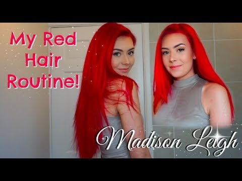 My Red Hair Routine!  |  Madison Leigh