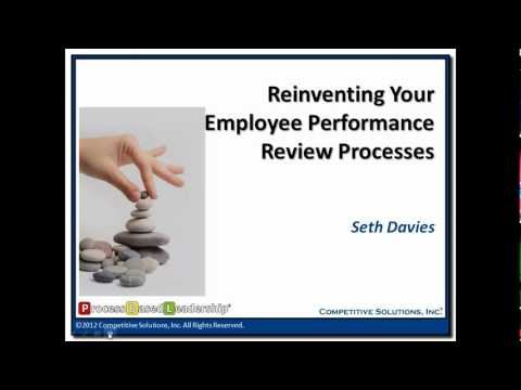 Reinventing Your Employee Performance Review Processes