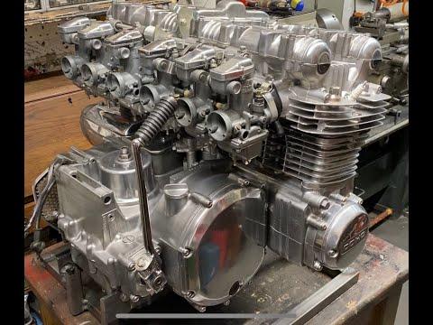 Kawasaki Z1- 1396cc Super Six 6 cylinder engine first start