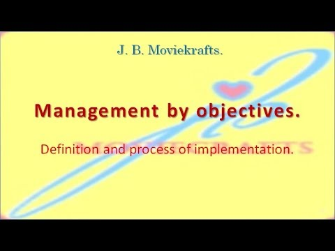 Management By Objectives ( M. B. O. ) - Easy To Understand.