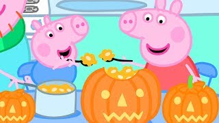 Peppa Pig Official Channel  Making a Pumpkin Lantern with Peppa and George  Halloween Special