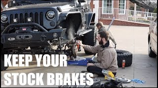 Why NEVER Put Slotted & Drilled Rotors on your Jeep Wrangler!