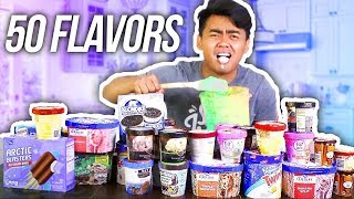 MIXING ALL MY ICE CREAM FLAVORS TOGETHER AND EATING IT!