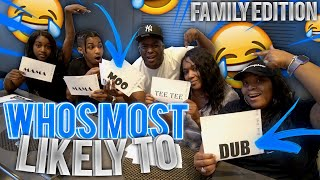 Who's Most Likely To . . ft TeeTee , DDG , Tawanna & Our Mom