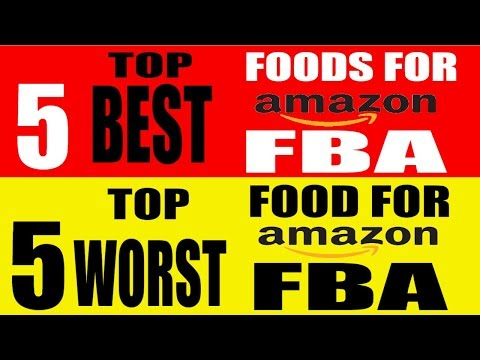 Amazon FBA Top 5 Best and Worst Foods For Amazon Fulfillment services