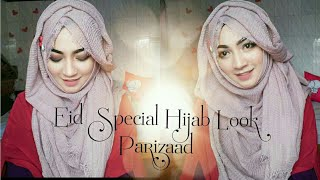 Eid Special Tutorial with Crinkle Hijab Covering Chest and back | Pari ZaaD ❤