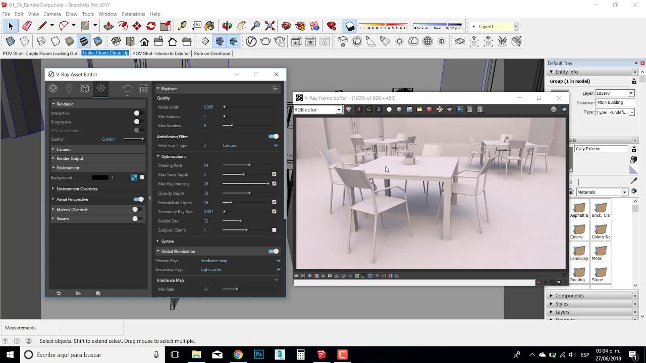 Parametros render vray sketchup - YouTube