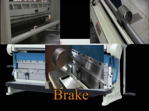Baileigh SBR-5216 Shear Brake Slip Roll 16 Gauge Combination Metal Forming Machine