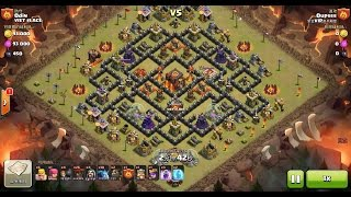 Clash of Clans TH10 vs TH10 Mixed Troop Clan War 3 Star Attack