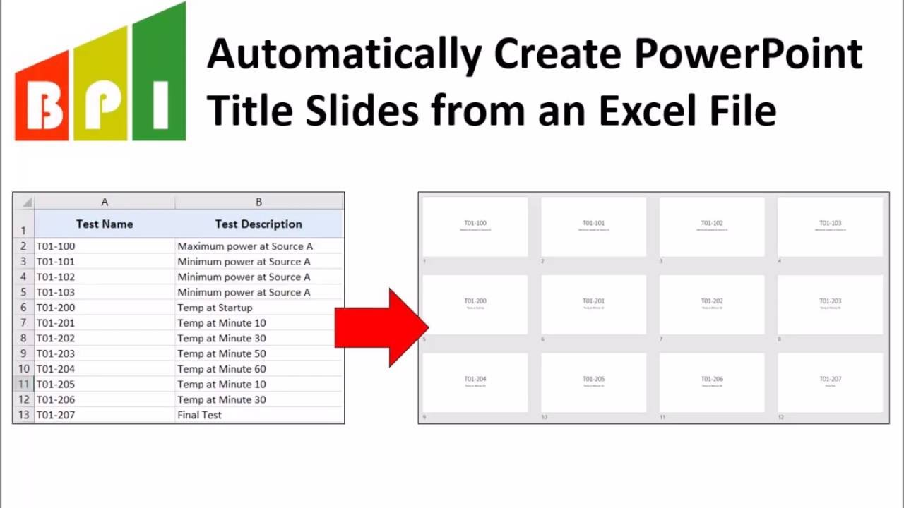 how to automatically create powerpoint title slides from