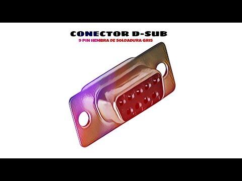 Video de Conector D-sub 9 pin hembra de soldadura  Gris