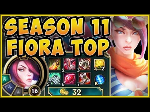 WHO IS ABLE TO TAKE ON THIS NEW SEASON 11 FIORA?? FIORA SEASON 11 TOP GAMEPLAY! - League of Legends