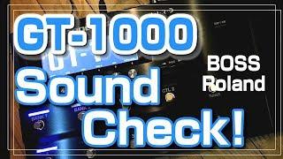 BOSS GT-1000 Preset Guitar Sound Test / Roland